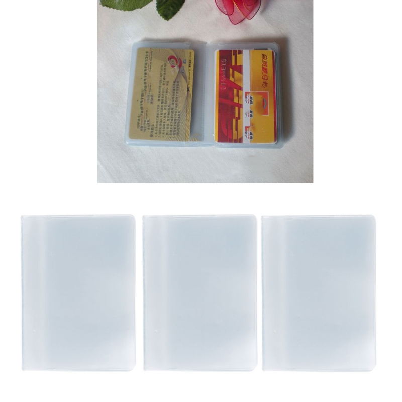 Hot Sale Plastic PVC Clear Pouch Name ID Credit Card Holder Case Organizer Keeper Pocket