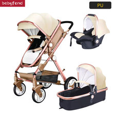 Eurpole high landscape baby stroller luxury 3-in-1 trolley luxury strollers effectively umbrella stroller(China)
