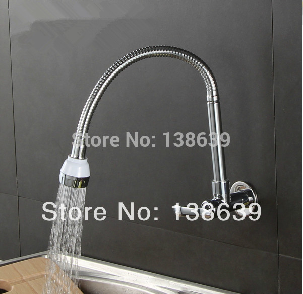 Free Shipping In wall mounted stainless kitchen faucet fold expansion cold kitchen sink tap Washing machine
