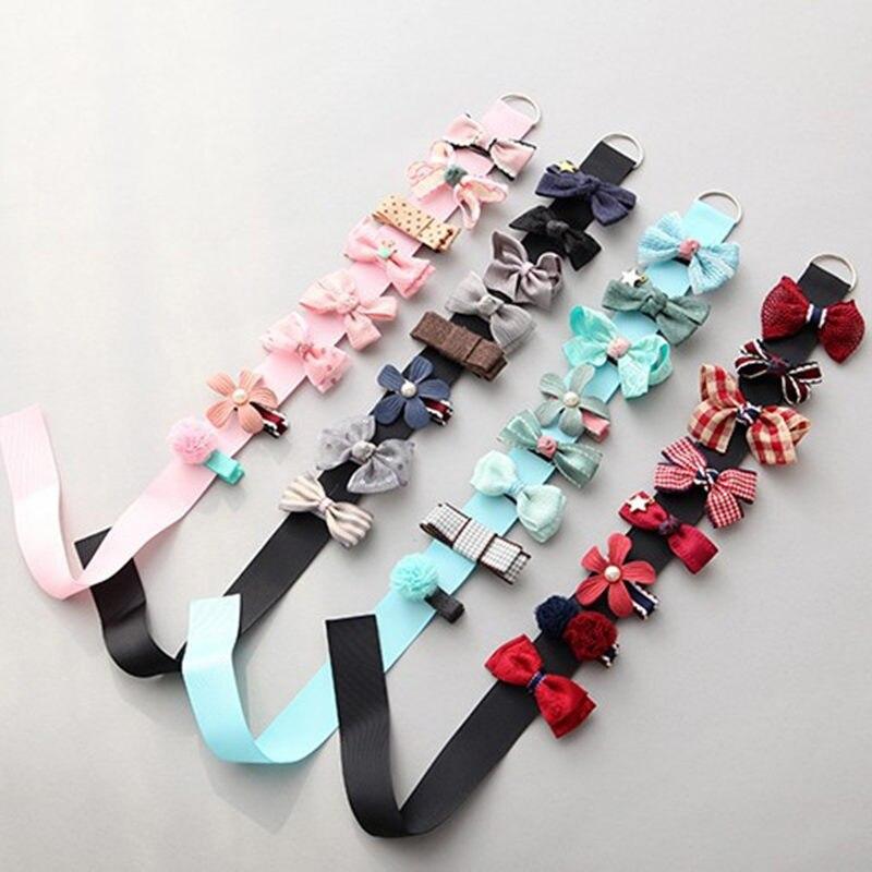 8pcs/set Multi-style Ribbon Bow Flower Hairpins Barrettes Baby Hair Accessories Cute Baby Girls Hair Clip