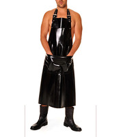 Latex Rubber Full Length Apron For Men Latex Wear