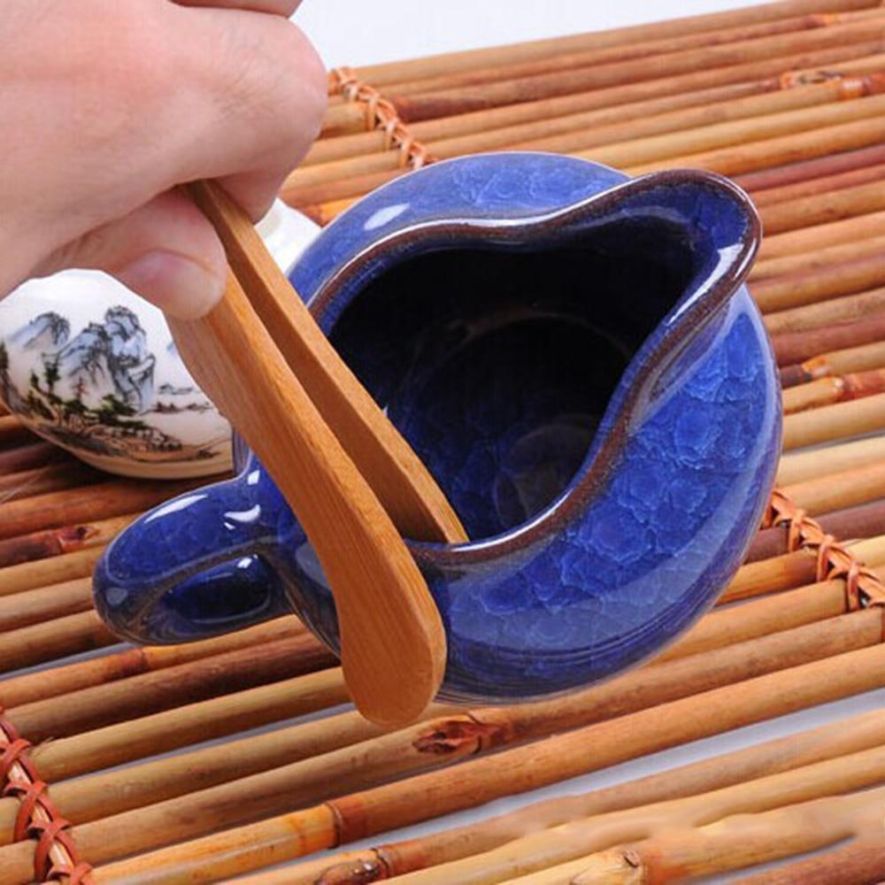 2pcs Handmade Bamboo Tea Clips Tweezers Curved Straight Kung Fu Tea Accessories 18cm