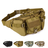 Men Nylon Camo Tatico Bumbag Military Molle Waterproof Water-resistant Hip Belt Pouches Mini Waist Package Messenger Bags