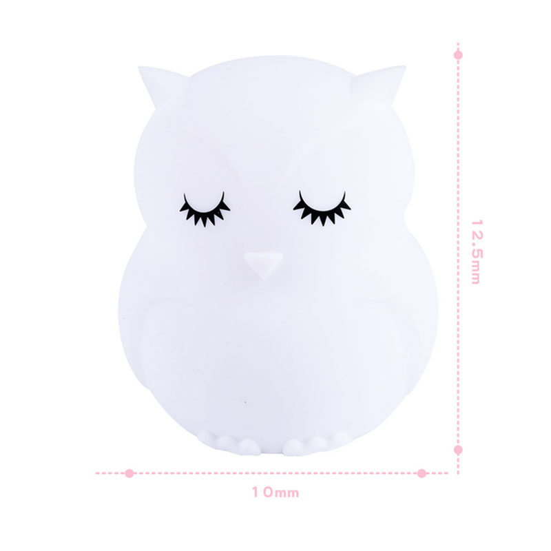 Image 2 - Lovely Owl Cartoon Silicone Baby Led Night Light  Children Toy Lights Bedside Night Lamp Gifts For Kids 8 Colors Changing-in LED Night Lights from Lights & Lighting