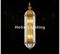 Free Shipping Brass Retro Brass Lamp 110V~220V Indoor/Outdoor Brass Wall Lighting D20cm H66cm Antique Bronze Living Room Lights