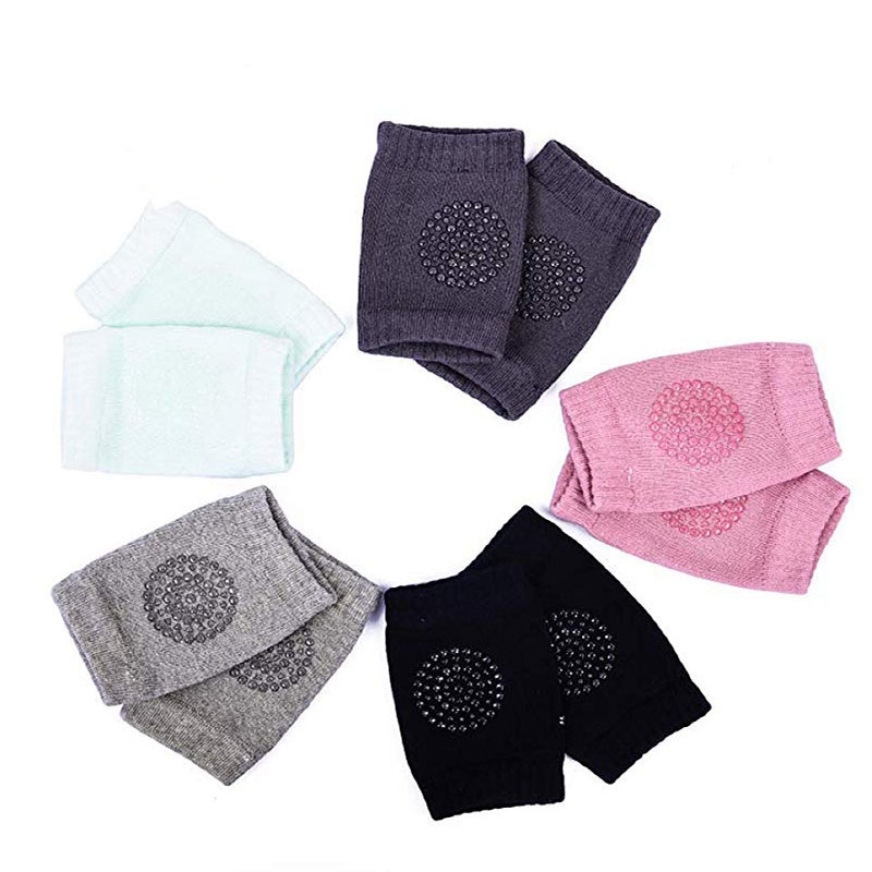 Cotton Baby Crawling Knee Pads Leg Warmers High Socks Five Pairs in Leg Warmers from Mother Kids