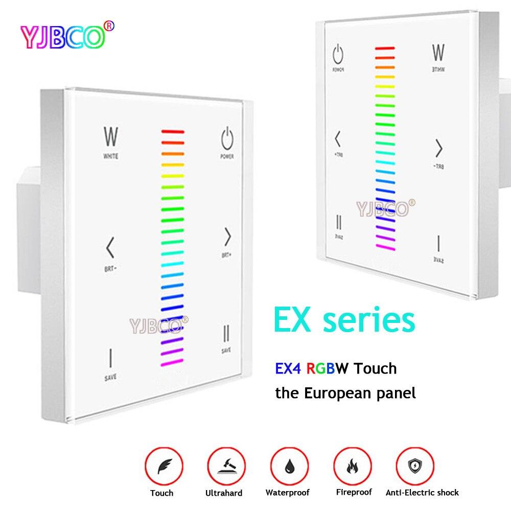 EX4 LED RGBW contrôleur d'écran tactile 2.4 GHz DMX512 Signal Synchrone contrôle rgbw LED bande lampe à LED ruban ruban