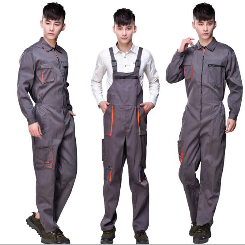 Men Work Overalls Women Protective Coverall Cargo Pants Repairman Strap Jumpsuits Suspen ...