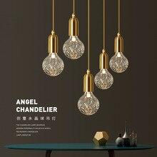 Nowoczesna minimalistyczna lampa wisząca w stylu Vintage w stylu Vintage Caferoom/lampa na barek pojedynczy szklany wisiorek lampy dekoracja oświetlenie wewnętrzne E27
