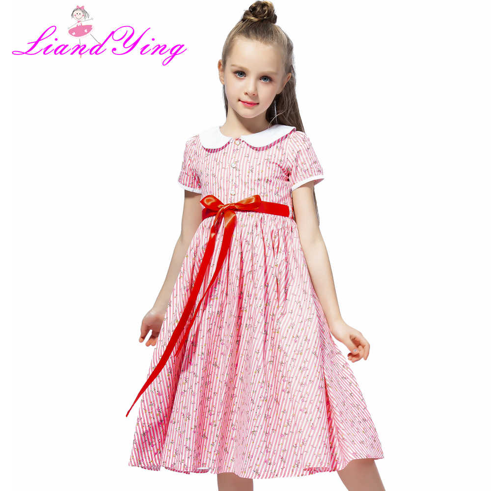 Detail Feedback Questions about 2018 Girls Dress Summer Floral Print  Teenagers Dresses for Girls Designer Formal Party Dress Kids Vestido 2 12Y  on ... 2629ed07131e