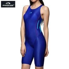 PHINIKISS بدلة ترايثلون الأزرق التخسيس قطعة واحدة ملابس السباحة الإناث الرياضة ملابس النساء المهنية سباق ثوب السباحة مايوه