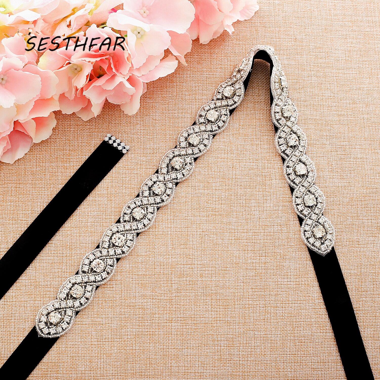 Diamond Wedding Belts Crystal Rhinestones Belts Bridesmaid Bridal Dresses Accessories Waistband Sashes Ceinture Mariage