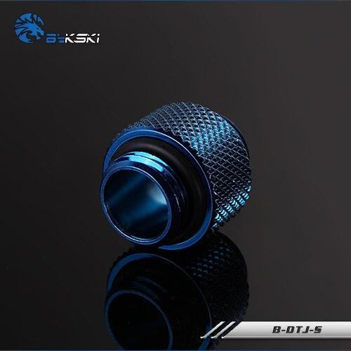 Bykski B-DTJ-S, мужские и мужские фитинги, бутик ромбовидный узор, несколько цветов G1/4 мужские и мужские фитинги - Цвет лезвия: Blue