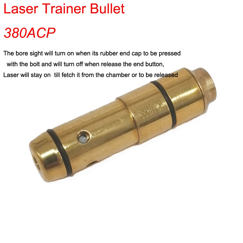 380ACP  laser ammo laser bullet laser trainer pistol laser cartridge for dry fire training-in Lasers from Sports & Entertainment