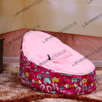FREE SHIPPING Baby Seat With 2pcs Bright Pink Up Covers Baby Bean Bag Chair Kid S