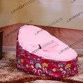 FRETE GRÁTIS assento de bebê com 2 pcs rosa brilhante up cobre bebê cadeira do saco de feijão tampa de assento do saco de feijão só saco de feijão miúdo móveis