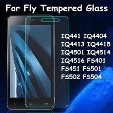 Закаленное Стекло Пленка Для Fly IQ4404 IQ4415 IQ4514 IQ4516 FS451 FS501 FS504 Screen Protector Случае
