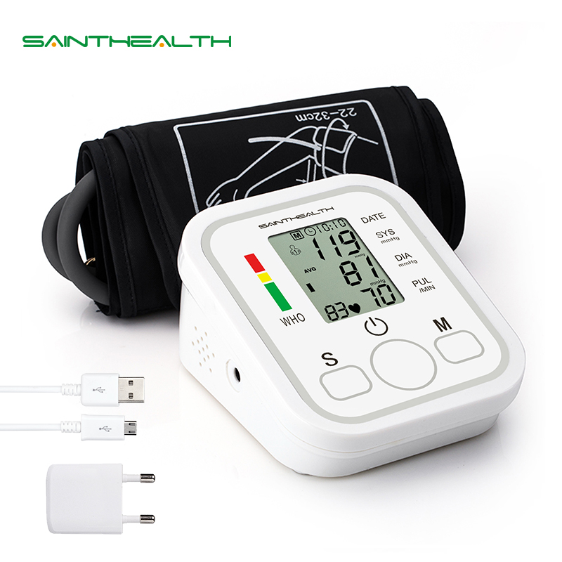 все цены на Automatic Digital Lcd Upper Arm Blood Pressure Monitor Heart Beat Rate Pulse Meter Tonometer Sphygmomanometers pulsometer