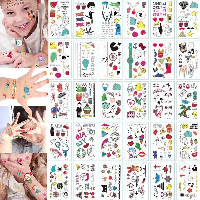 30 Sheet 3D Butterfly Temporary Tattoos Body Art Sticker Flower Letters Cartoon Dog Fake Tattoos Infinity Tattoo for Women, Kids 2