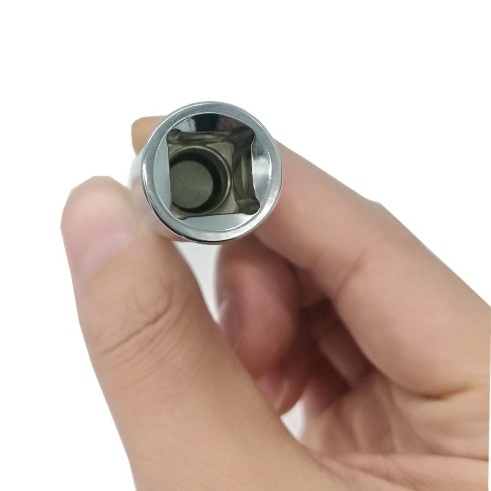 """Купить с кэшбэком Julydream 7PC 3/8"""" Bit Socket Set  Ball Style Extra Long Hex Bit Socket with Strong Case  110mm CRV 3mm 4mm 5mm 6mm 7mm 8mm 10mm"""