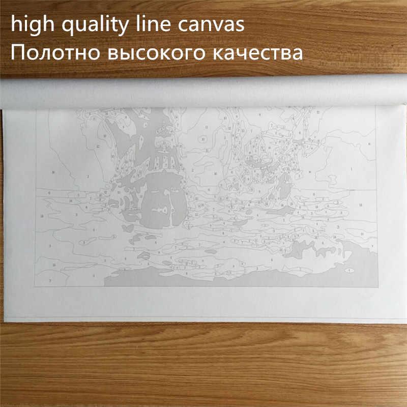 象日没絵diy絵画数字の絵画現代壁アート1パネルフレームレスポスター家の装飾40 × 50センチ作品