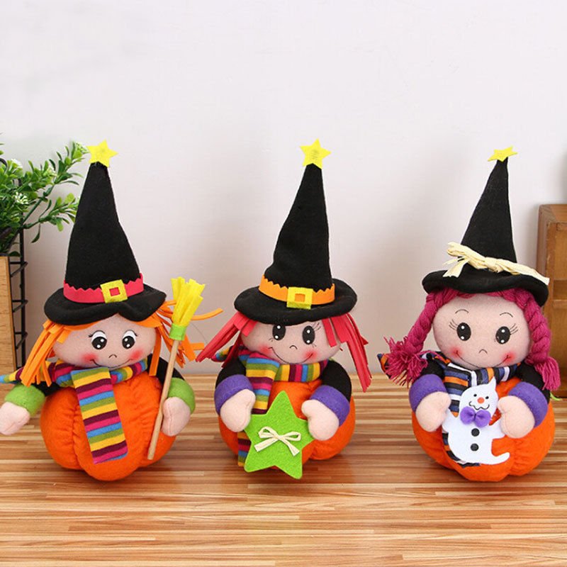 halloween party cute pumpkin photo booth props kids girl halloween party decoration dolls creepy puppet photobooth