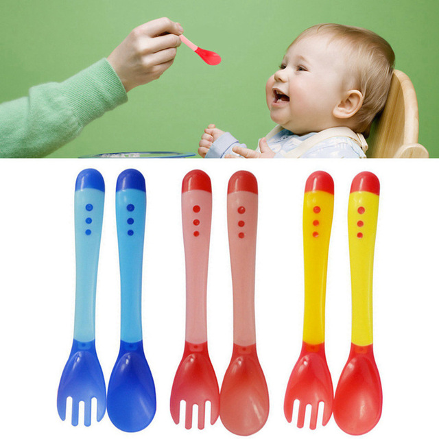 Spoon And Fork Baby Flatware Feeding Tools