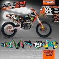 Custom Team Graphics Decals 3M Customized Background Sticker Kits For KTM SX SXF XCW EXCF EXC 125 250 300 350 450 530 MX Enduro
