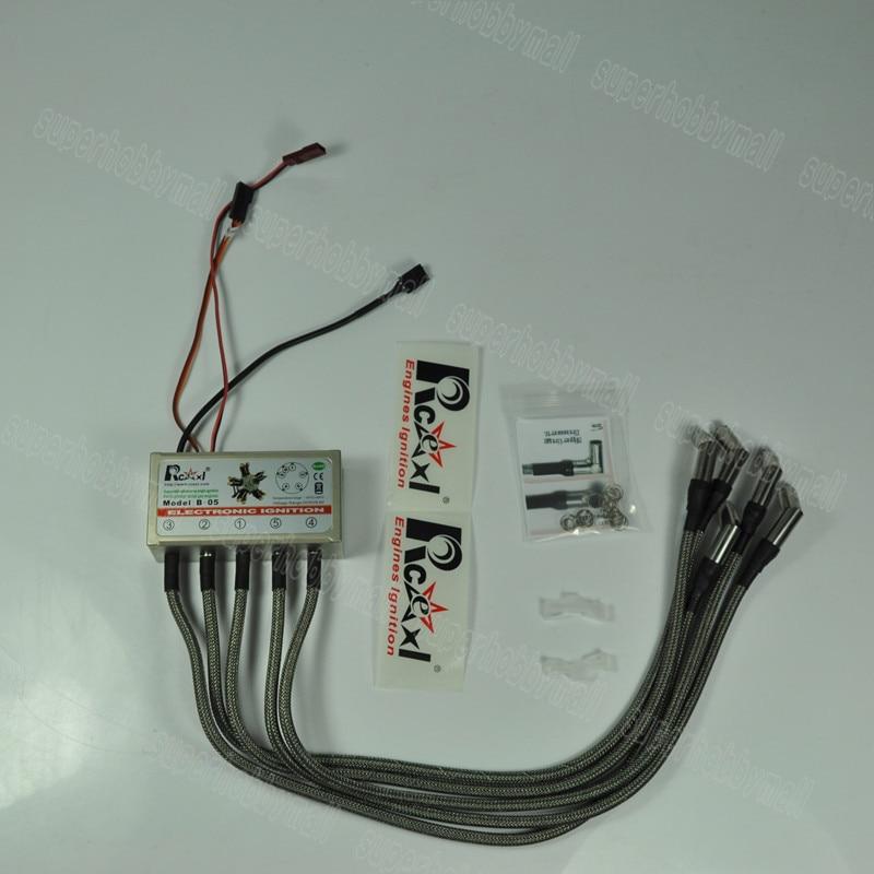 Rcexl 5 cylinder RADIAL ENGINE ignition for NGK ME8 1/4 -32 120degree With Sensor ngk br8hs