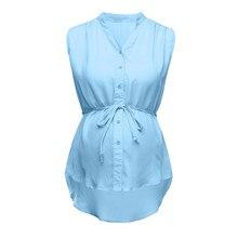 Женские топы для беременных, однотонные летние Полосатые блузки для беременных, рубашки для беременных