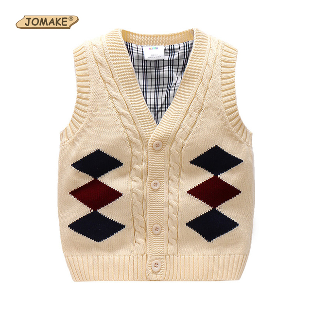 ee1884d629f3 Boys Sweater Vest New Autumn Baby Boy Clothes V Neck Single breasted ...