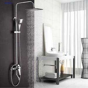 Image 1 - Dofaso אמבטיה גשם ערכות אמבטיה ברז מקלחת ברז כרום אמבטיה סט ברזי גשם ומפל מקלחות מים חיסכון