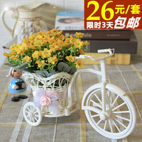 Fashion rustic tea bags artificial flower silk flower plastic overall floral bandwagon coffee table diaphragn decoration