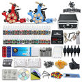 Tattoo starter machine kits 2 equipment 40 inks set power supply needles  grips tips