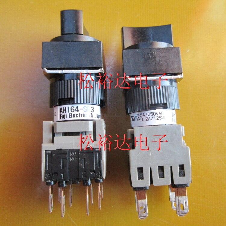 Original nouveau 100% import japon AH164-SP3B22 5A 250VAC 0.2A 125VDC 16 carré 3 sélecteur commutateur carré 8pin
