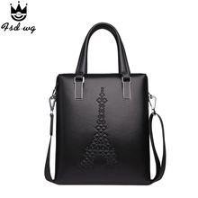 New briefcase shoulder bags Embossing men's handbag crossbody bag leather bolsas famous brand designer mens business bag bolsos