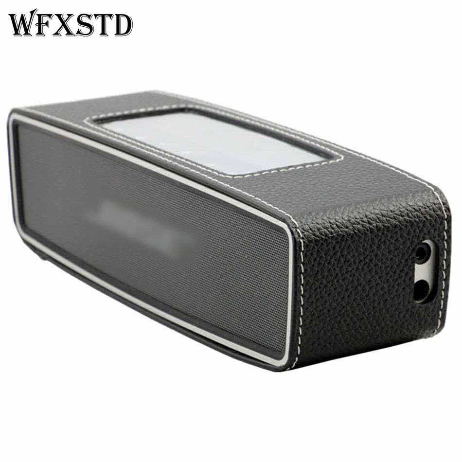New Hot Sell Genuine Leather Cases Box Bag Pouch Cover For Bose Soundlink Mini Bluetooth Speaker Portable Travel Carry Cases bose soundlink bluetooth speaker iii