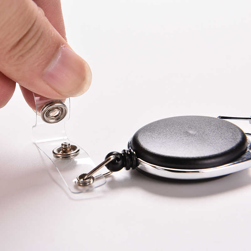 Creative Key Houder Organizer Pull Sleutelhanger Id-kaart Badge Tag Riem Clip Keten Houder Metalen Behuizing Plastic Covers