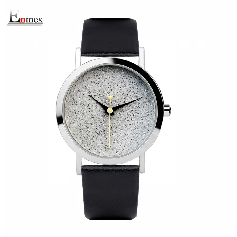 2017 Ladies gift new style watch Enmex brief design senior gray colour elegant simple shining face quartz fashion wristwatch 2017lady gift enmex design silicone strap creative changing patterns dail japanese style simple quietly elegant quartz watches