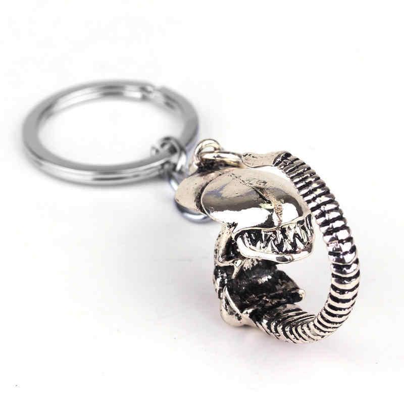 Dongsheng Movie Alien Cổ Điển AVP Đồ Trang Trí Alien Predator Móc Khóa phụ kiện Cổ Điển cho Phụ Nữ đàn ông Jewelry Kim Loại Keyrings-50