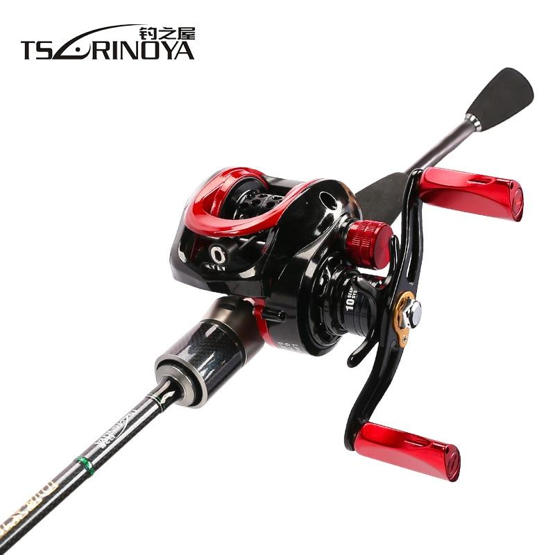 TSURINOYA Fishing Rod Combo With Rod Reel Line Bait 1.89m UL Rod XF-50 Casting Reel 100m PE line Spoon Baits Fishing Box combo