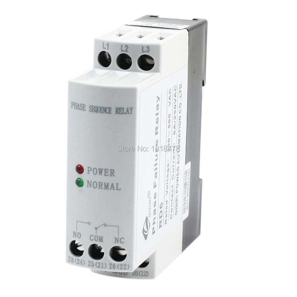 JVRD AC 200V-500V Phase Sequence Failure Monitoring Protective Relay vj5 lcd display phase failure sequence unbalance protective relay 3 phase and voltage relay