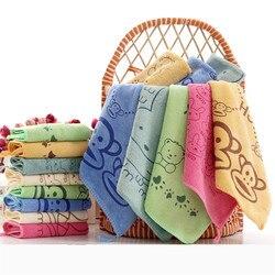 Toalha infantil de 3, pçs/lote, toalha de banho bonita para crianças, pano quadrado, lavável, para cozinha e banheiro