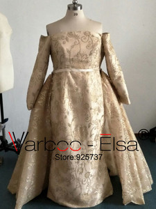 Image 5 - Real Photos gold Luxury Sequined Lace Evening Dresses Halter Hand Pleated Custom Made Vestido De Festa 2017 from Yousef Aljasmi