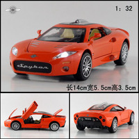 Gift For Baby 1pc 1 32 14cm Delicate Spyker C8 Super Sports Car Cool Acousto Optic