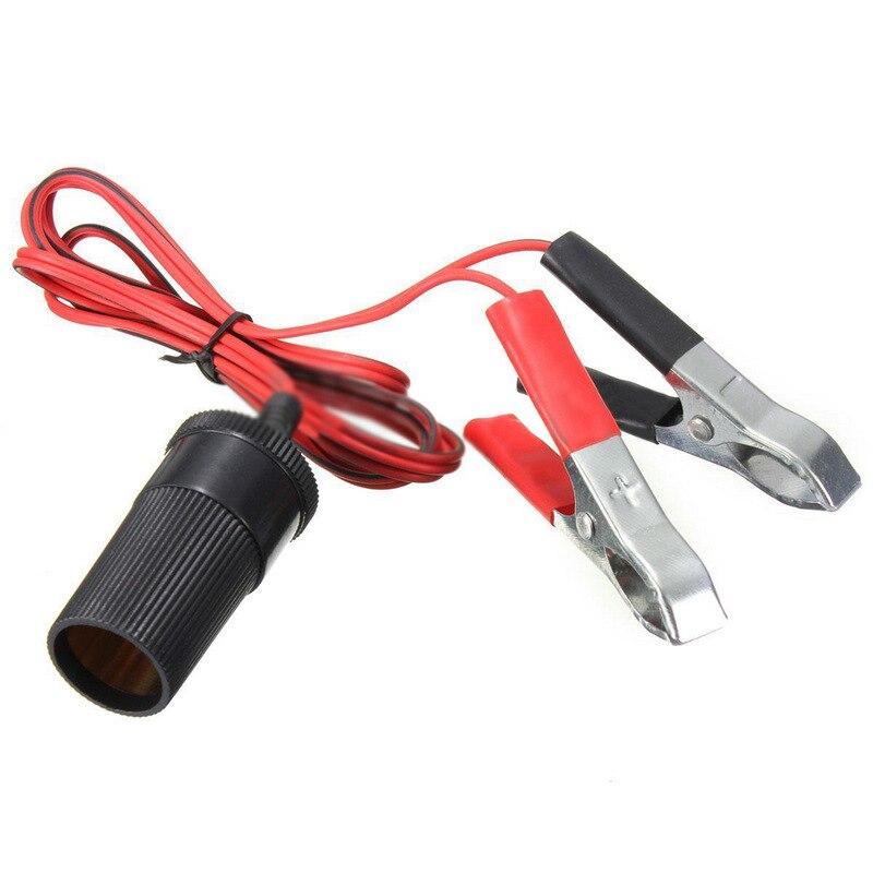 цена на Car Battery Terminal Clamp Clip-on 12V Cigarette Lighter Socket Power Adapter For Cars Boat Refrigerator Boat RV Automobile