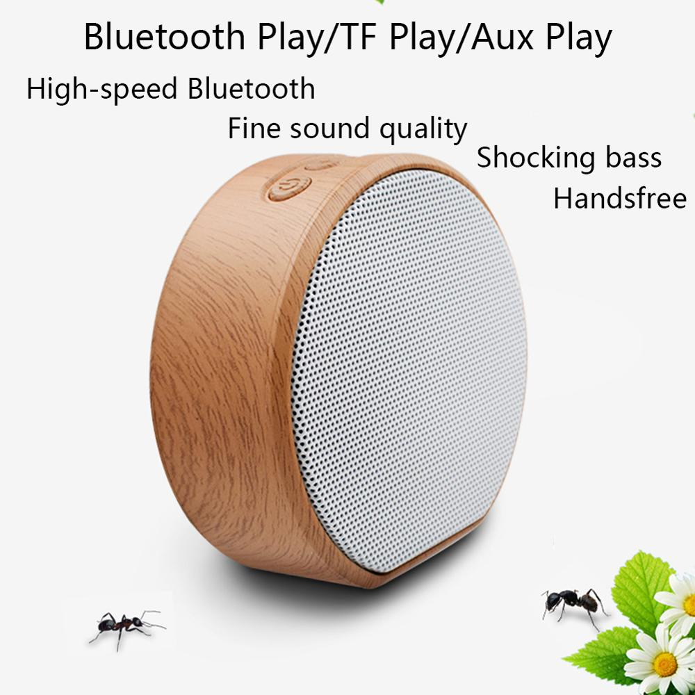 Image 3 - Wood Altavoz Bluetooth Speaker Portable Subwoofer Wireless Mini Bluetooth Sound Box Support AUX TF Card USB for iPhone Android-in Portable Speakers from Consumer Electronics
