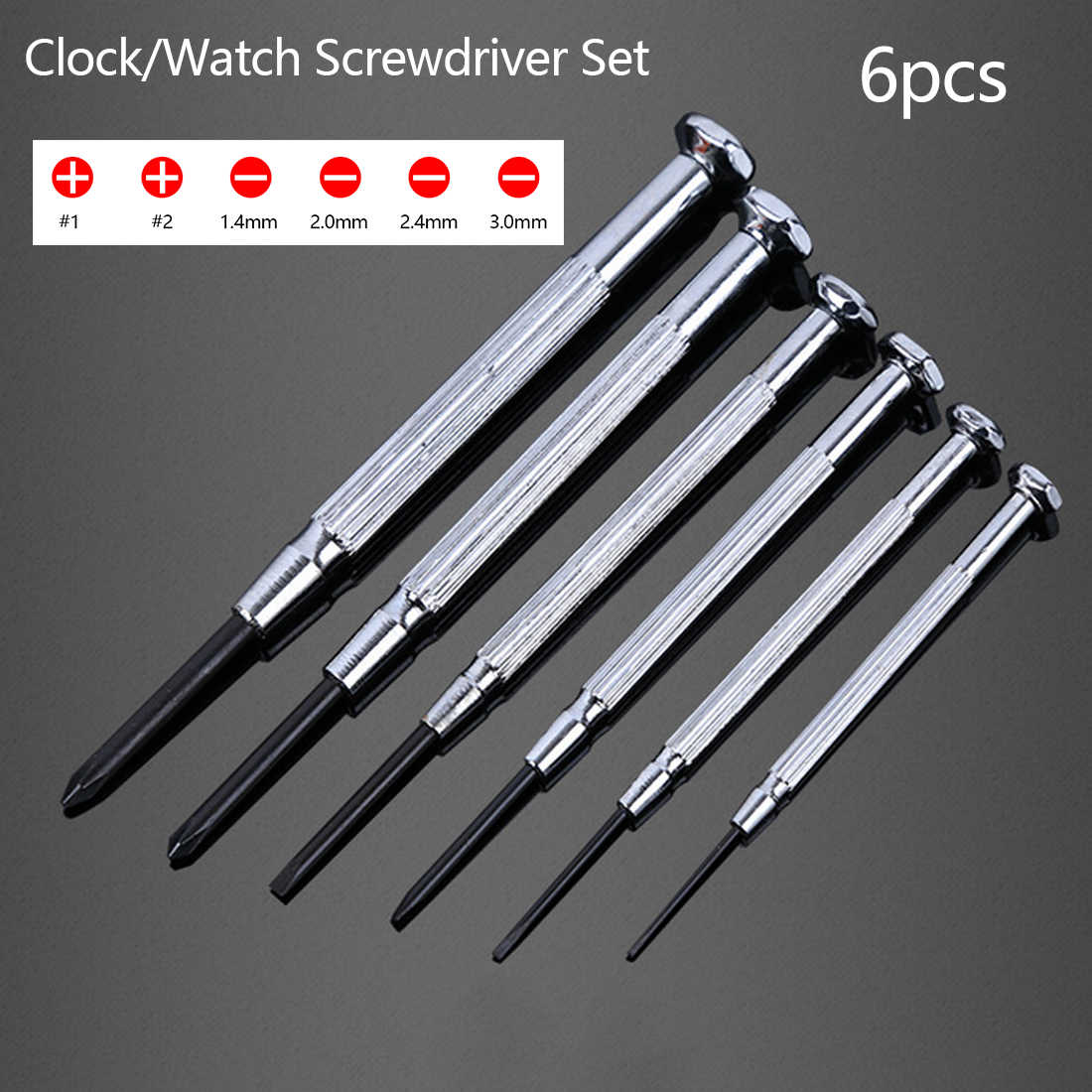 Top 6pcs Precision Multifunction Small Screwdriver Set with Slotted Phillips Bits for Watch Glasses Screw driver Repair Tools