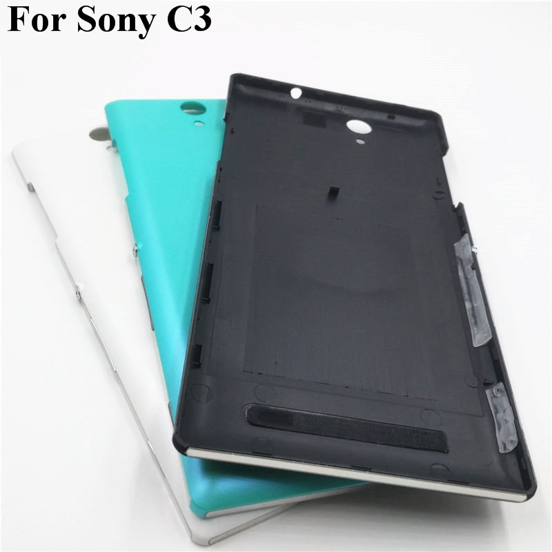 Battery Cover Replacement Parts For Sony Xperia C3 S55T S55U D2533 Rear Battery Door Back Cover Housing