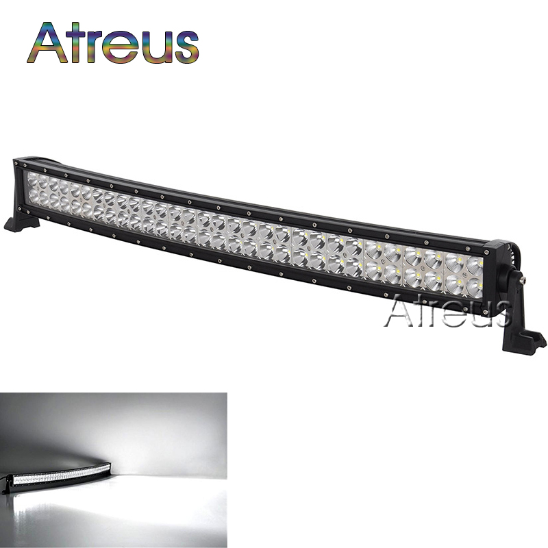 33inch 180w Curved LED Work Light Bar 12V Spot Flood High Power 13200Lm For Boat Offroad 4x4 Truck SUV ATV JEEP Driving Fog Lamp eyourlife 23 25 inch 120w fog lamp spot wide flood beam combo work driving led light bar for offroad suv atv 12v 24v 99